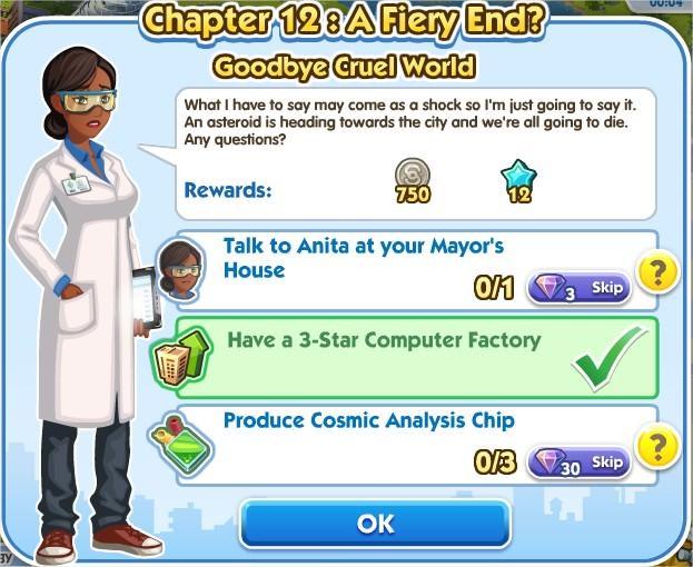 SimCity Social, Goodbye Cruel World