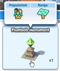SimCity Social, Plumbob MonuMent