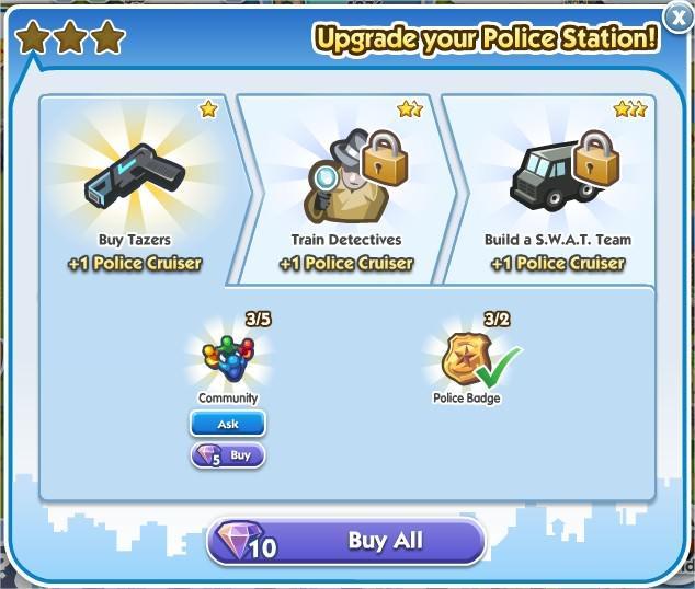 SimCity Social, 警局(Poloce Station)