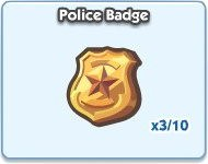 SimCity Social, Police Badge