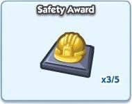 SimCity Social, Safety Award