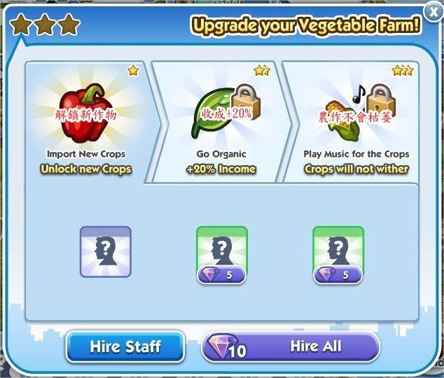 SimCity Social, Vegetable Farm(蔬果農場)
