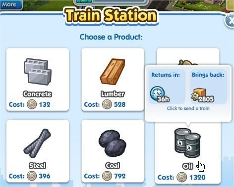 SimCity Social, Train Station(火車站)