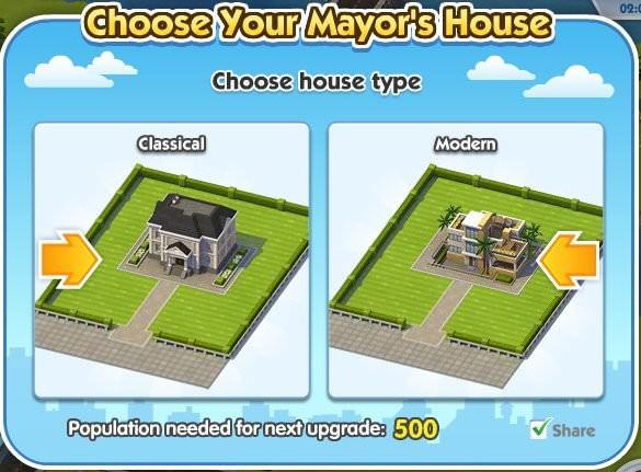 SimCity Social, Mayor House