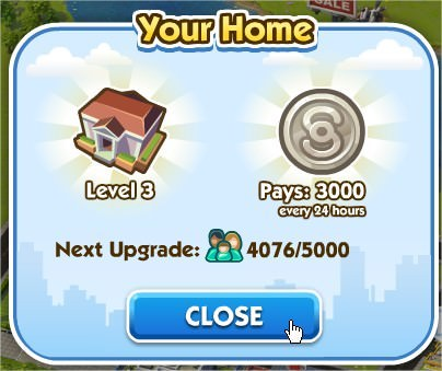 SimCity Social, 市長官邸(Mayor House)