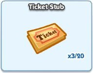 SimCity Social, Tricket Stub