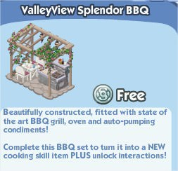 The Sims Social, ValleyView Splendor BBQ