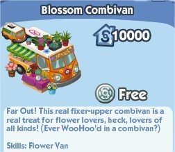 The Sims Social, Blossom Combivan