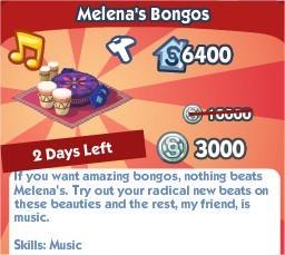 The Sims Social, Melena's Bongos