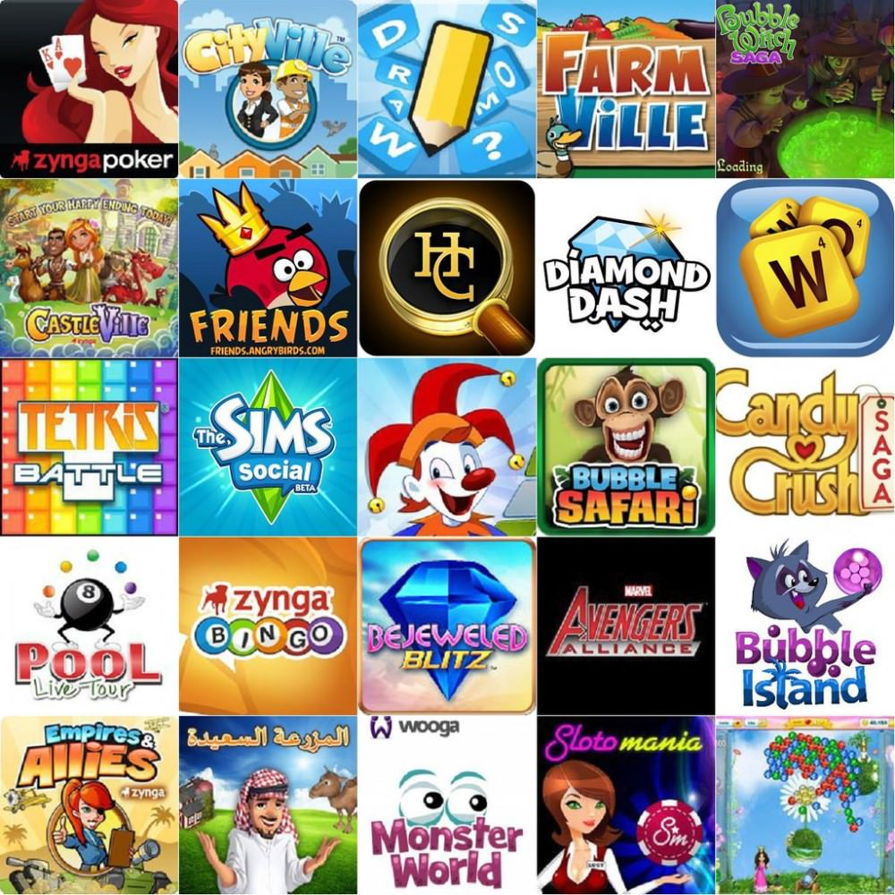 Facebook 最熱門的25個遊戲(2012年5月)