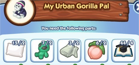 The Sims Social, My Urban Gorilla Pal