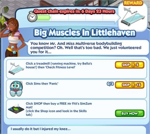 The Sims Social, Big Muscles In Littlehaven 1