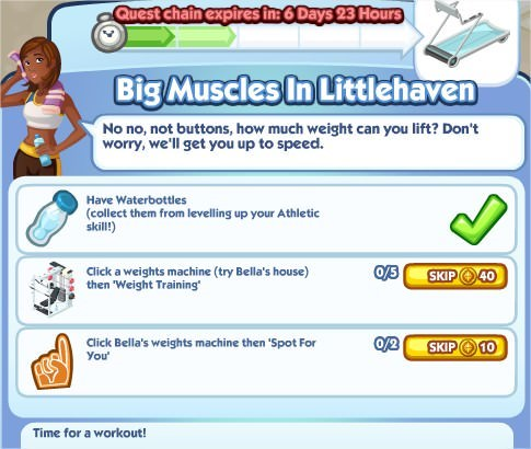 The Sims Social, Big Muscles In Littlehaven 2