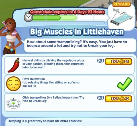 The Sims Social, Big Muscles In Littlehaven 3