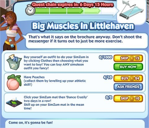 The Sims Social, Big Muscles In Littlehaven 4