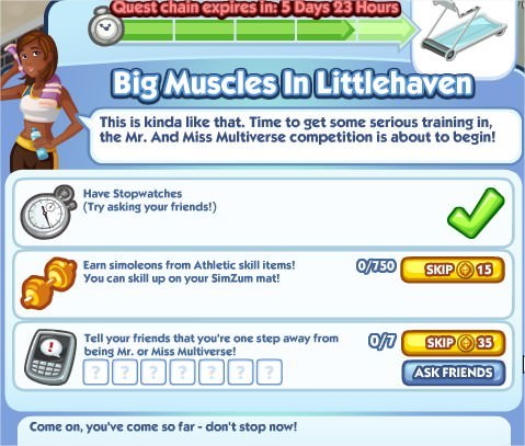 The Sims Social, Big Muscles In Littlehaven 5
