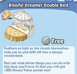 The Sims Social, Blissful Dreamer Double Bed