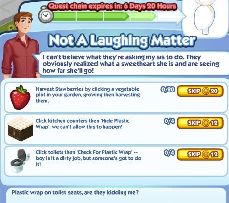 The Sims Social, Not A Laughing Matter 4