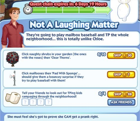 The Sims Social, Not A Laughing Matter 5