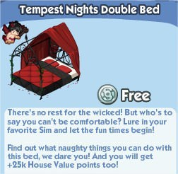 The Sims Social, Tempest Nights Double Bed