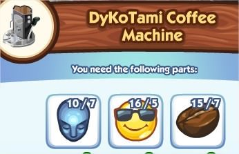 The Sims Social, DyKoTami Coffee Machine