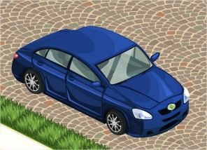 The Sims Social, Car (Blue)