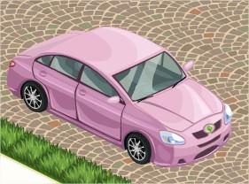 The Sims Social, Car (Pink)