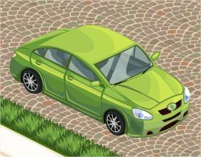 The Sims Social, Car (Lime)