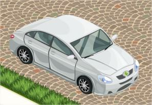 The Sims Social, Car (White)