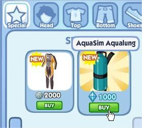 The Sims Social, AquaSim Aqualung