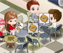 iLoveCoffee, 將被顧客弄亂的餐椅擺回原位