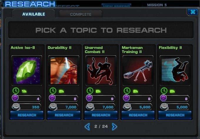 Marvel: Avengers Alliance, Research