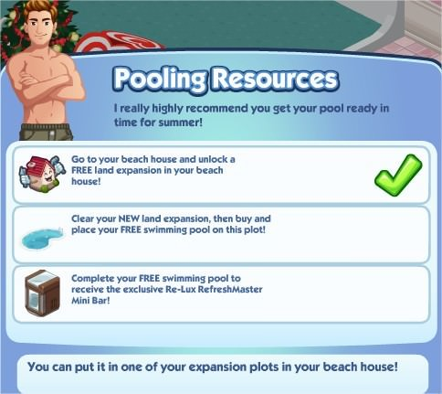 The Sims Social, Pooling Resources