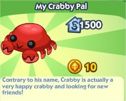 The Sims Social, My crabby pal