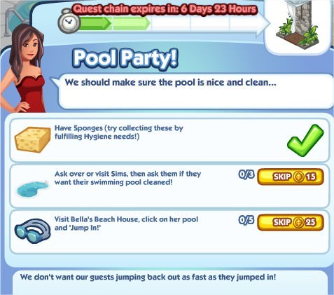 The Sims Social, Pool Party! 2