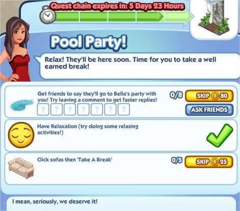The Sims Social, Pool Party! 5