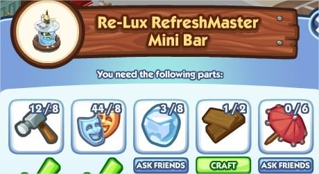 The Sims Social, Re-Lux RefreshMaster Mini Bar