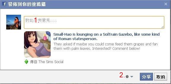 Facebook, 發佈訊息