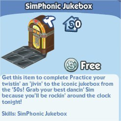 The Sims Social, SimPhonic Jukebox