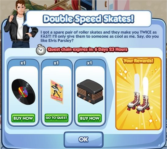 The Sims Social, Double Speed Skates!