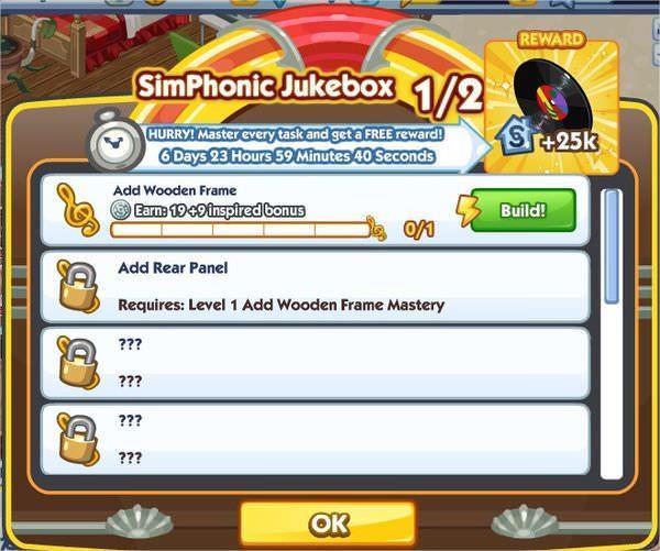 The Sims Social, SimPhonic Jukebox