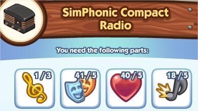 The Sims Social, SimPhonic Compact Radio