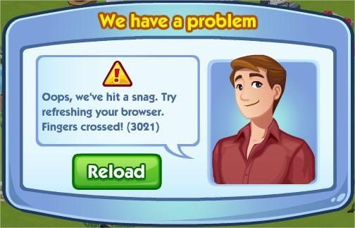 The Sims Social, Error 3201
