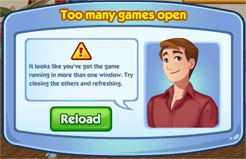 The Sims Social, Too many games Open
