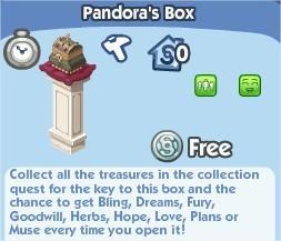 The Sims Social, Pandora's Box