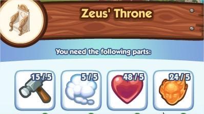 The Sims Social, Zeus' Throne