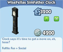 The Sims Social, WiseFellas SimFather Clock