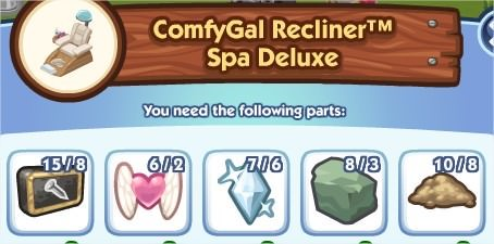 The Sims Social, ComfyGal Recliner™ Spa Deluxe