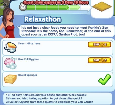 The Sims Social, Relaxathon 4