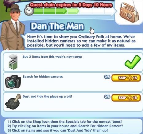 The Sims Social, Dan The Man 4